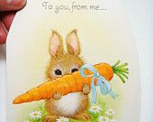 Easter Greeting Card by Hallmark - Easter Egg - Bunny - Unused