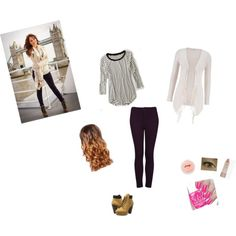 Debby Ryan Outfit by paramore808 on Polyvore featuring American Eagle Outfitters, Topshop, Steve Madden, Ilia and Lipsy