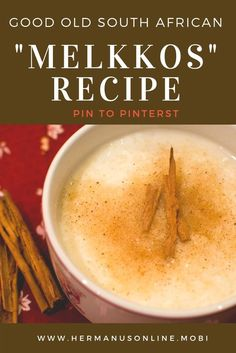 """Melkkos"", a traditional South African Recipe - The Best African Recipes South African Desserts, South African Dishes, South African Recipes, Africa Recipes, Braai Recipes, Milk Recipes, Light Recipes, Cooking Recipes, Oven Recipes"