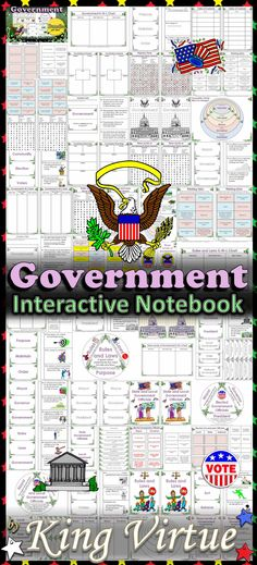 Government Interactive Notebook BUNDLE - Rules and Laws, State and Local Government Officials , Three Levels of Government - King Virtue's Classroom This Government Interactive Notebook covers the following: * Explaining the purpose of rules and laws * State and local government officials * The three levels of government (local, state, and national government) Perfect for your Government unit!