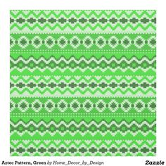 Aztec Pattern, Green Fabric