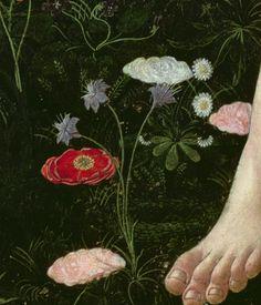 Sandro Botticelli - Primavera, dettaglio - tempera su tavola - 1482 circa…