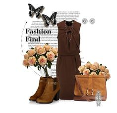 """""""#brown"""" by vanjahh ❤ liked on Polyvore featuring Etro, Lucky Brand, H&M, Rolex, Michael Kors, Nearly Natural, women's clothing, women, female and woman"""