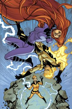 Uncanny Inhumans 9 cover Drawn by Mahmud Asrar, coloured by Dave McCaig.