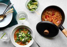 Find opskriften på one-pot dhal her. Den er både vegetarisk og glutenfri.