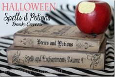Halloween Spells and Potions Book Covers with Downloads from the Crafty Cupboard