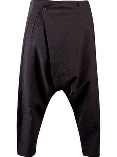 SONG FOR THE MUTE - Cropped Front Fold Trouser - AW13TR010 CHARCOAL - H. Lorenzo