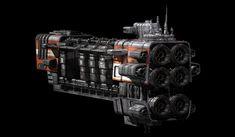 concept ships: Orbital Cargo Ship by Matt Booty