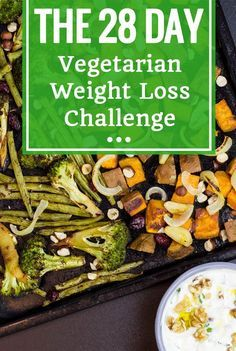 Vegetarian Diet For Weight Loss - The 28 Day Challenge. Includes Meal Plan & Tracking Sheet - Participate for free! | hurrythefoodup.com