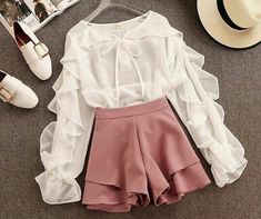 64 Ideas Clothes Cute Outfits Shorts For 2019 Girls Fashion Clothes, Teen Fashion Outfits, Girly Outfits, Cute Casual Outfits, Pretty Outfits, Stylish Outfits, Style Clothes, Dress Casual, Fashion Dresses
