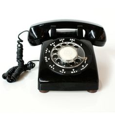 Our one and only phone. You could only go as far as cord would let you.