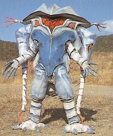 Mantamobile helps Nadira in a shopping spree of theft. He has the ability to'pimp up' automobiles. He is taken in by the Time Force Megazord mode red. Mutant Seal Patch Location:
