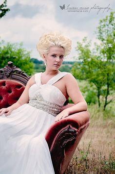 Wedding dress grecian style silk beaded reception destination rhinestone gown. $515.00, via Etsy.
