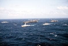 USS CORAL SEA, USS MIDWAY AND USS ENTERPRISE 1983