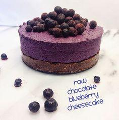 Sweetest Raw: Raw Choklad Blåbär Cheesecake