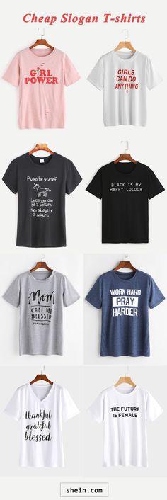 Slogan t-shirts start at $4.