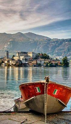 Lake Orta ♦ San Giulio, Italy http://exploretraveler.com…