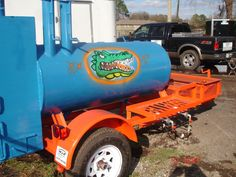 Model 120 BBQ Smoker with FL Gator Colors! Built by M & R Specialty Trailers and Trucks in Macclenny FL.