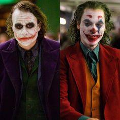 LedgerPhoenixMashup Joker Heath, Joker Batman, Joker Dc Comics, Batman Arkham City, Joker Art, Joker And Harley Quinn, Funny Comics, Gotham City, Joaquin Phoenix