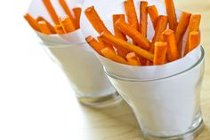 "Snack Healthy! You can beat those cravings in a delicious and easy way with this great ""Crispy Carrot Fries"" recipe! Great Snack for kids too!"