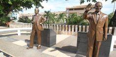Pintan estatuas del Paseo de los Presidentes en San Juan -...