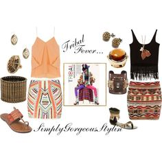 Tribal Fever..., created by simplygorgeous-stylin on Polyvore