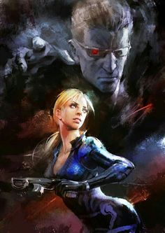 Jill Valentine and Wesker.