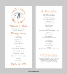 Printable Wedding Welcome Bag Booklet Note Itinerary Wedding