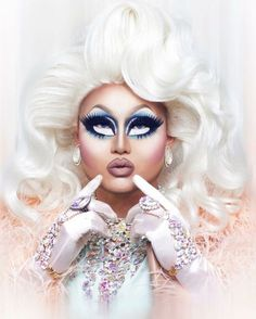 week2- drag makeup images- the white area under the eyes is interesting in that it makes her eyes much bigger.