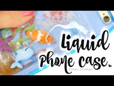 In this DIY, learn how to make a liquid phone case that resembles a fish tank, aquarium, or even a beachy ocean scene! Customize your own creative, lava iPho. Decoden Phone Case, Diy Phone Case, Cool Phone Cases, Iphone Cases, Cover Iphone, Cool Diy, Easy Diy, Unicorn Phone Case, Craft Projects For Kids