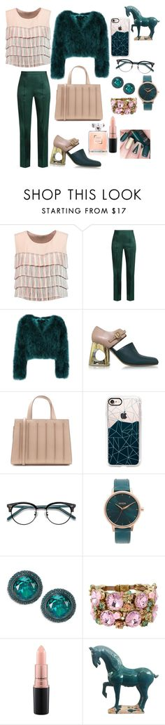 """""""Untitled #18"""" by christinaioana ❤ liked on Polyvore featuring Alexis, Rosie Assoulin, Marni, MaxMara, Casetify, Ace, Nixon, Kate Spade, Betsey Johnson and MAC Cosmetics"""