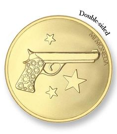 Mi Moneda Large Gold Plated Aim High / Pistol Coin from Michael Jones Jeweller