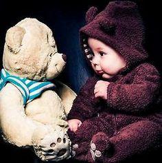 we could dress our little bear like a little bear!