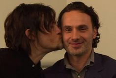 Walking Dead Andrew Lincoln And Norman Reedus  Bromance Photo Gallery 'The Walking Dead Actors Celebrate Their Manly Love For Rick Grimes And Daryl Dixon Shippers