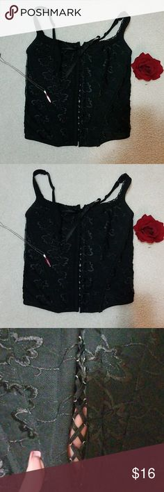 Wet Seal Black lace up corset You are viewing a wet seal black lace up course set. It hooks in the back and it has adjustable straps. It's been worn 3 times.  Other than that just hanging in my closet. If you have any questions please feel free. I offer bundle deals 10% off of 2 items or more.   Also reasonable offers are welcomed.  Thank you & Happy poshing!!💓💓 Wet Seal Intimates & Sleepwear
