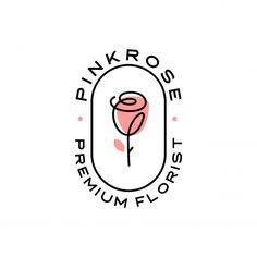 Rose logo flower icon illustration Premi... | Premium Vector #Freepik #vector #background #logo #pattern #flower Logo Branding, Branding Design, Gift Logo, Flower Logo, Logo Design Flower, Rose Illustration, Professional Logo Design, Cool Logo, Logo Nasa