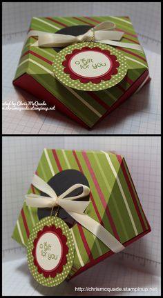 Faceted Gift Box made with the Envelope Punch Board - shop for your Board and more at http://chrismcquade.stampinup.net