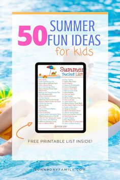 50 summer fun ideas for kids with a FREE printable summer bucket list! Love these fun, cheap summer activities for kids. Summer Fun For Kids, Summer Activities For Kids, Toddler Activities, Learning Activities, Kids Learning, Parenting Tips, Kids And Parenting, Backyard Play, Summer Bucket Lists