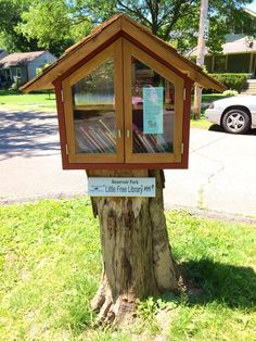 Little Free Library, Louisville, KY (While going for a walk, I was delighted to…