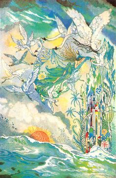 The Wild Swans -- Joyce Mercer -- Fairytale Illustration