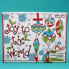 Inkadinkado Wood Peace and Noel Christmas Stamp for Decorating Christmas Cards 3.5 L x 5 W
