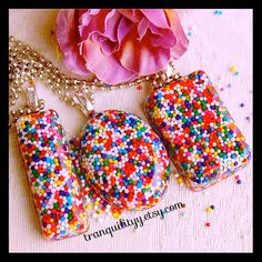 Candy Sprinkle Necklace Crush  Loaded Sprinkle by tranquilityy