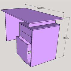 HOME DZINE Home DIY | Practical desk for child or teen bedroom