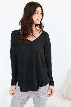 oversized long sleeve black shirt