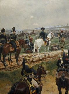 NAP- France: Napoleon and His Marshals Watching a Battle, by Richard Caton Woodville.