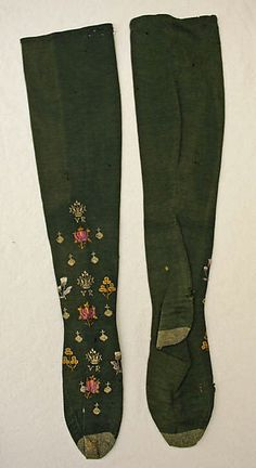 British Wool stockings w/ Silk Embroidery, 1887 Vintage Stockings, Silk Stockings, Historical Costume, Historical Clothing, Victorian Fashion, Vintage Fashion, Victorian Shoes, Victorian Ladies, Victorian