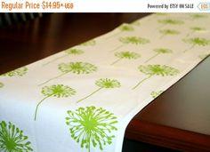 SALE Spring Table Runner Premier Prints Green by Modernality2
