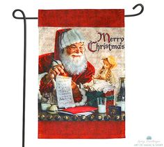 """Christmas Yard Flag"" Available at www.cliffkringle.com"
