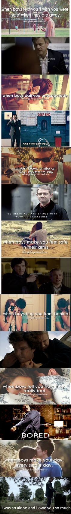 So at first I just thought it was a set of Johnlock pictures, meant to be funny...then the last one was painful.  This show.
