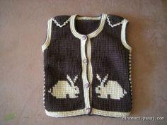 Tavşanlı Bebek Yeleği Bebek Yelek Örnekleri   Örgü    Bebek örgüleri    Bebek Yelek Örnekleri
